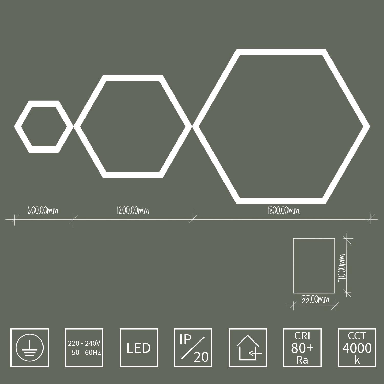 závesné svietidlo ARLI hexagon