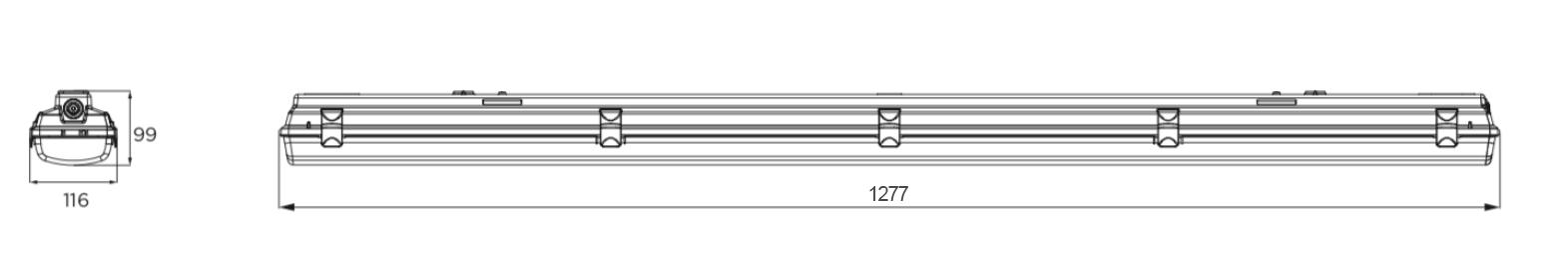 Priemyselné vietidlá ARLI IP65