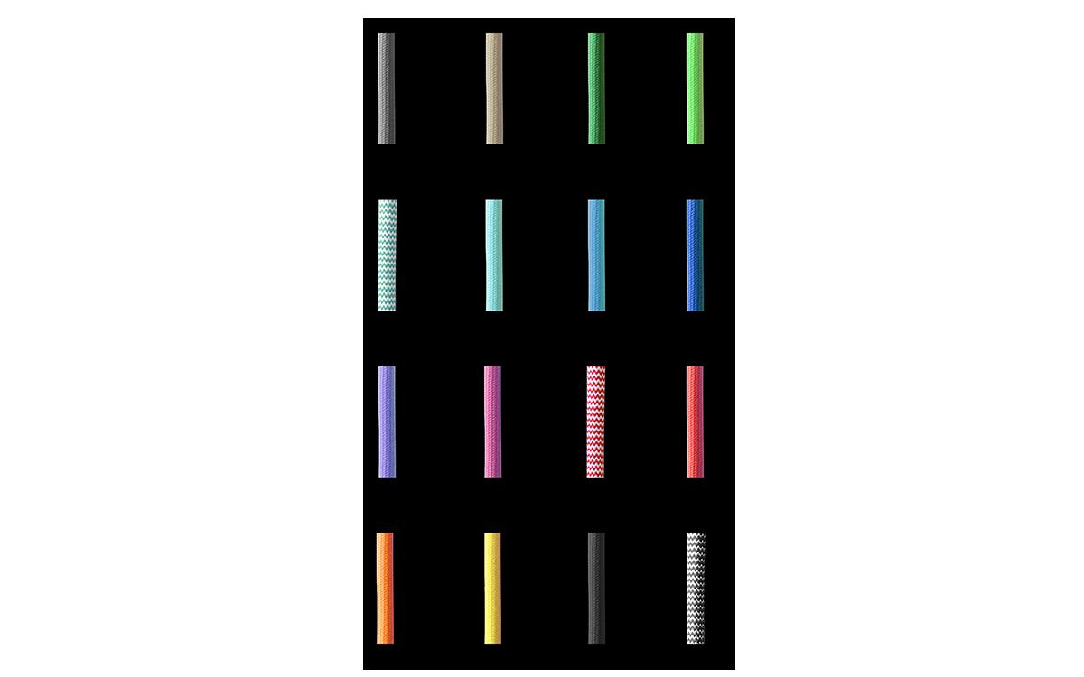 farebné textilné káble ARLI