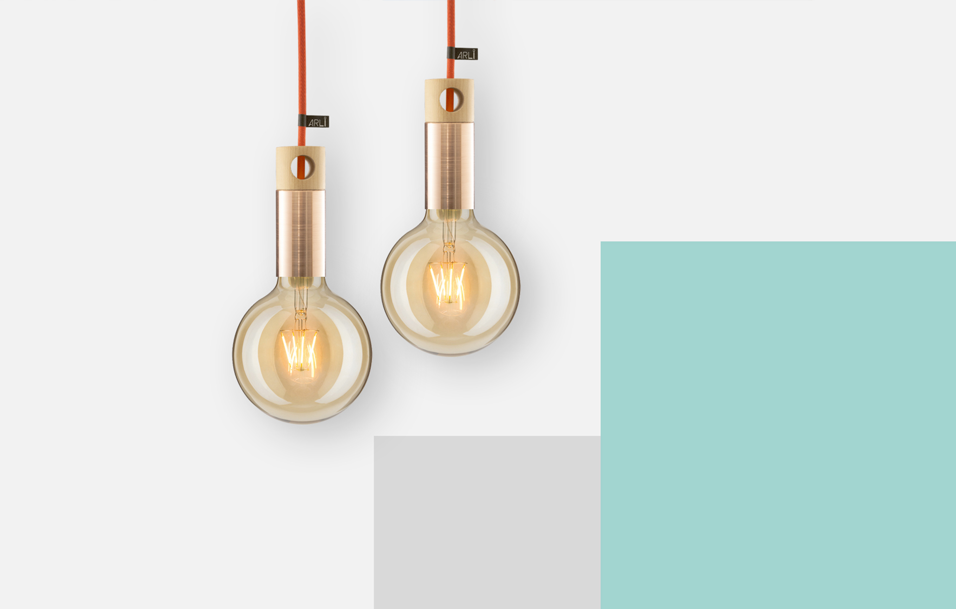 Pendant light ARLI Copper