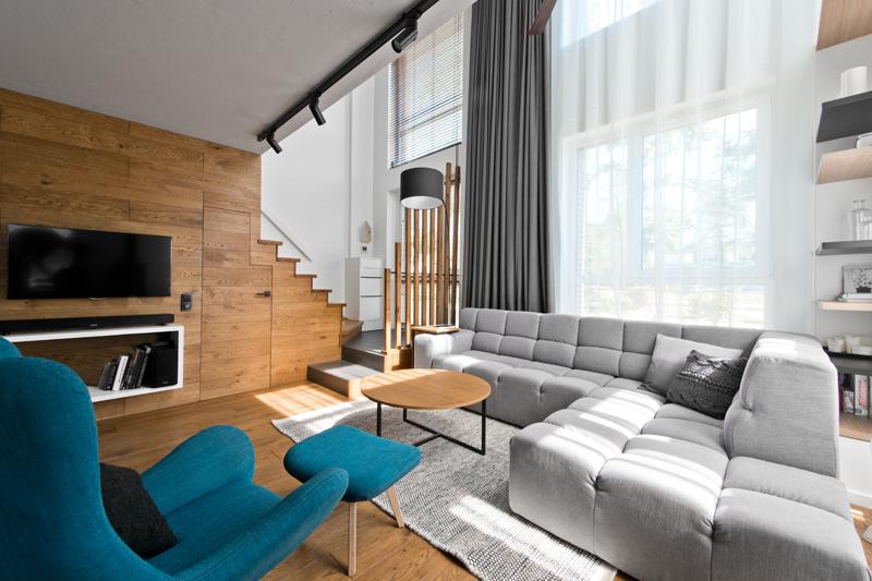mezonetový moderný byt, so škandynávskou atmosférou