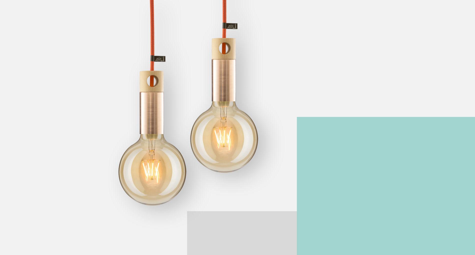 dizajnové závesné svietidlo ARLI copper
