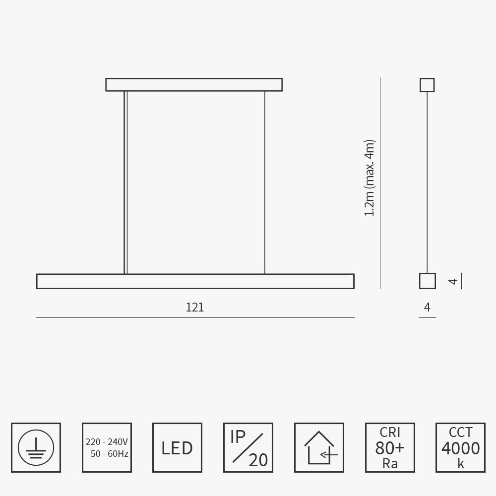 Dizajnové závesné svietidlo ARLI geminy v jedalni