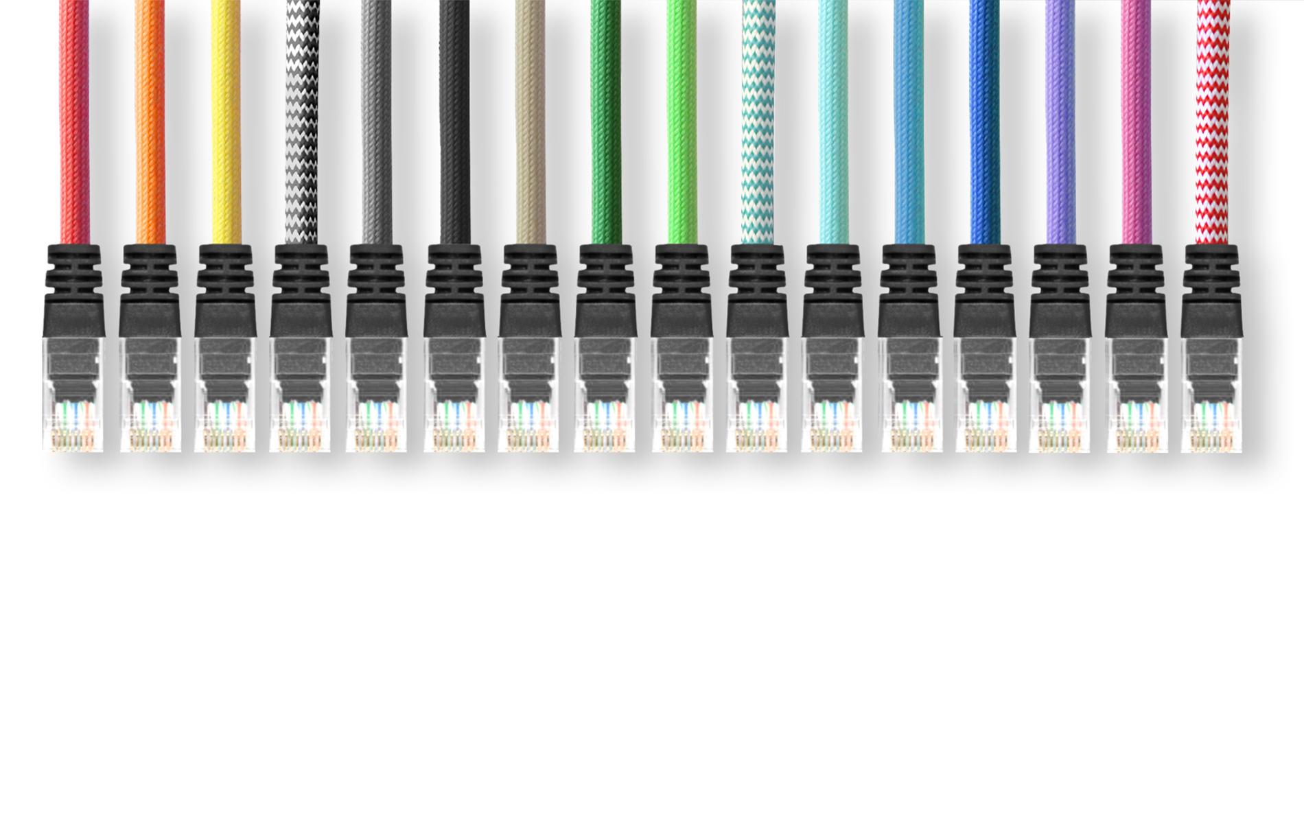 Ethernet UTP cable- textile