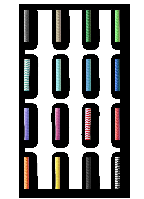 Farebné textilné káble