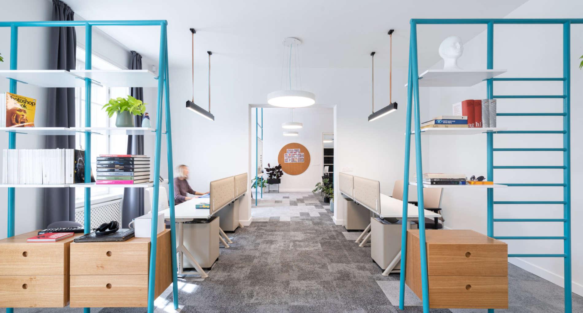 interior office design with arli led lights