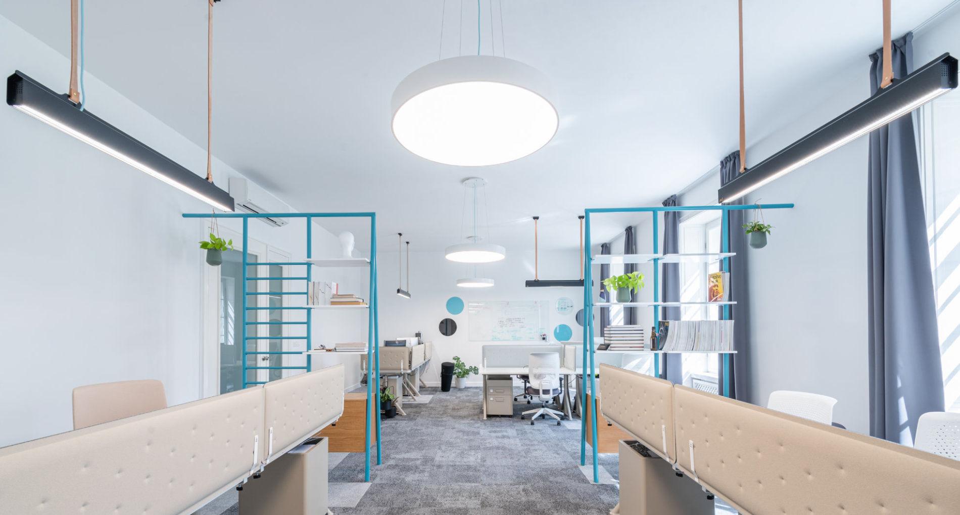 kruhové svietidlo v kanceláriach effectivity Slovensko
